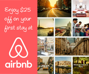 Enjoy $25 off on your first stay at Airbnb
